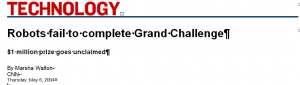 Darpa Grand Challenge Failure 2004